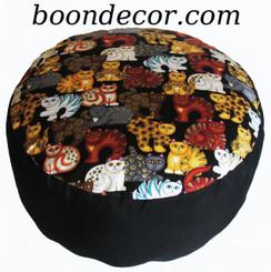 Boon Decor Meditation Cushion - Combination Fill Zafu - Limited Edition - Cat Reunion 2