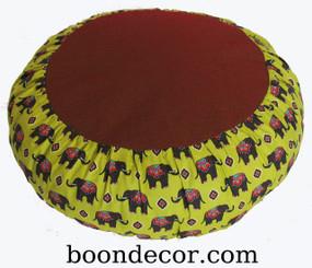 Boon Decor Meditation Cushion Zafu - Limited Edition - Rare Find Fabric - Grand Caravan
