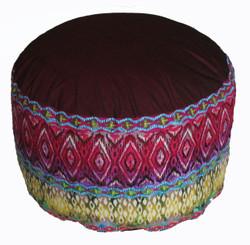 Boon Decor Meditation Cushion High Seat Zafu - One of a Kind - Silk Road Spice Route 9 h