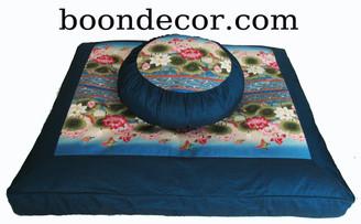 Boon Decor Meditation Cushion Set Zafu Zabuton - Limited Lotus Sanctuary SEE COLORS