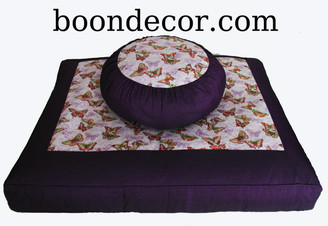 Boon Decor Meditation Cushion Zafu and Zabuton Set - Limited Edition - Butterflies Are Free