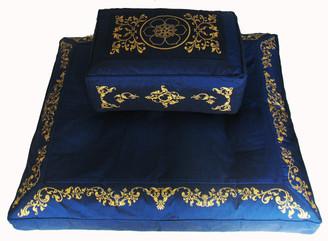 Boon Decor Meditation Cushion Rectangular Zafu and Zabuton Set Dharma Wheel SEE COLORS
