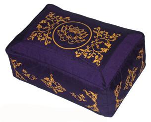 Boon Decor Meditation Cushion Rectangular Seat Lotus Enlightenment Purple 8 high