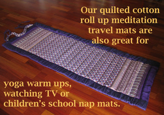 Boon Decor Meditation Roll Up Floor Mat w/Carry Handle - Quilted Cotton Prints Shown As Yoga or School Nap Mat