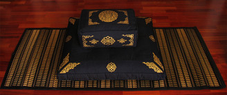 Boon Decor Meditation Set Shown on Optional Sacred Space Tatami Mat
