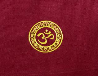 Boon Decor Dharma Messenger Bag - 100percent Cotton Canvas Dharma Supply Carry Bag - Burgundy OM