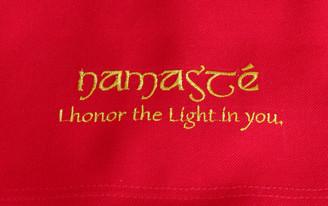 Boon Decor Dharma Messenger Bag - 100percent Cotton Canvas Dharma Supply Carry Bag - Red Namaste