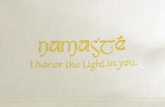 Boon Decor Dharma Messenger Bag - 100percent Cotton Canvas Dharma Supply Carry Bag - Ivory Namaste