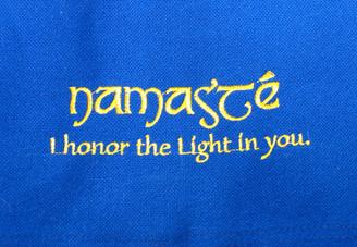 Boon Decor Dharma Bag - 100percent Cotton Canvas- Dharma Supply Tote Bag - Blue Namaste