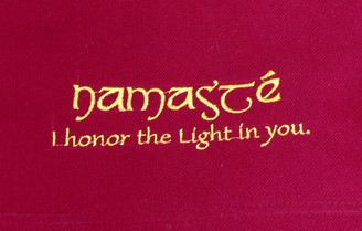Boon Decor Dharma Bag - 100percent Cotton Canvas Dharma Carry Tote Bag - Burgundy Namaste