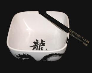 Boon Decor Dragon Noodle Bowl - 6.25 Sq Set of Two
