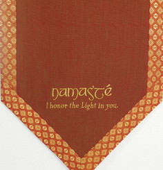 Boon Decor Altar Cloth Or Wall Hanging - Embroidered w/ Brocade Silk Trims - Namaste