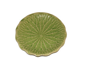 Boon Decor Celadon Tabletop Dinnerware Water Lily Leaf 6.5 Salad/Dessert Plate - Set of Two