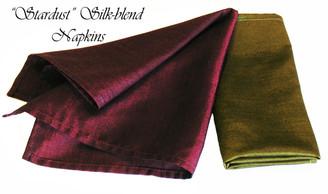 Boon Decor Stardust Silk Napkins - Silk-Blend Fabric - Set Of Six