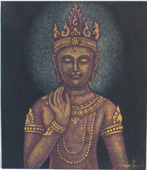 Boon Decor Buddha Original Painting - Maitreya Buddha 14 x 16