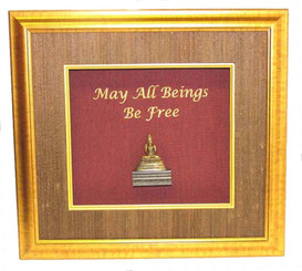 Boon Decor Shadow Box Art Buddha Statue - May All Beings Be Free