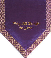 Boon Decor Altar Cloth Or Wall Hanging - Embroidered May All Beings Be Free SEE COLORS