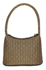 Boon Decor Handbags- Brocade Thai Silk Handbag - Black-Jewel Brocade