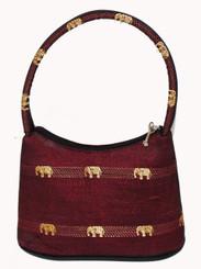 Boon Decor Handbag - Brocade Thai Silk Gold Elephants Motif SEE COLORS