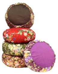 Boon Decor Meditation Cushion Zafu Pillow Japanese Kimono Silk SEE PATTERN COLOR CHOICES