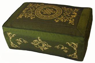 Boon Decor Meditation Cushion Rectangular Pillow Eternal Knot Celestial Vine SEE COLOR CHOICES