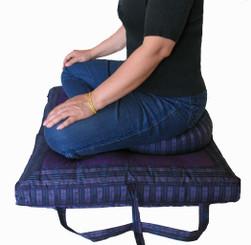 Boon Decor Folding Zabuton And Matching Zafu Set - Meditation Posture