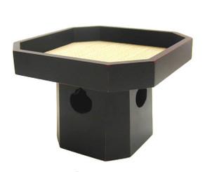 Boon Decor Offering Pedestal Tray - Wood w/Tatami Mat