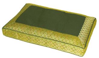 Boon Decor Meditation Pillow Sitting Cushion - Silk Brocade Lime