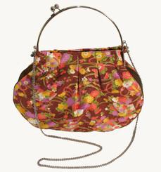 Boon Decor Handbag - Japanese Silk Kimono - Large Orange Floral Handbag