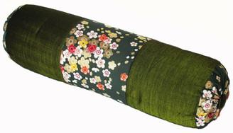 Boon Decor Silk Bolster Pillow - Japanese Kimono Silk - SEE COLOR CHOICES
