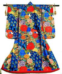 Boon Decor Japanese Wedding Kimono - Peony - Peacok