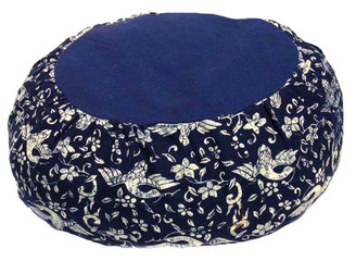 Boon Decor Meditation Cotton Zafu Blue and White Japanese Wood Block Print SEE PATTERN CHOICES