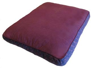 Boon Decor Zabuton - Pre-washed Cotton - Wood Block Prints - Plum 33x27x5