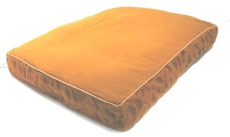 Boon Decor Zabuton Meditation Floor Cushion - Pre-washed Cotton Wood-block Prints Cinnamon
