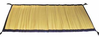 Boon Decor Tatami Traveling Meditation Foam Floor Mat Burmese Silk Purple Trim 68 x 31