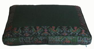 Boon Decor Meditation Low Rise or Sitting Cushion - Green Ikat