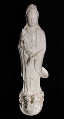 Boon Decor Quan Yin Statue - With One Dragon - Porcelain 16