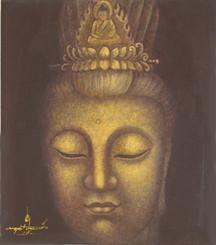 Boon Decor Quan Yin Painting - Loving Kindness - Original Art 14 x 16