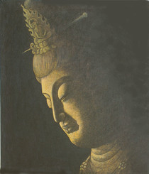 Boon Decor Quan Yin Original Oil Paintig - Reflections of Compassion 14 x 16