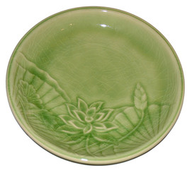 Boon Decor Celadon Tabletop Dinnerware - Lotus Blossom Collection 9 Lotus Lunch Plate