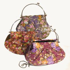 Boon Decor Handbag - Japanese Kimono Silk Print SEE COLORS