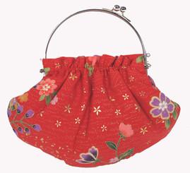 Boon Decor Handbag - Japanese Silk Kimono - Small Tangerine