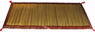 Boon Decor Tatami Traveling Meditation Foam Floor Mat Red Jewel Brocade Trim 68 x 31