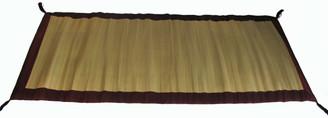 Boon Decor Tatami Meditation Foam Floor Mat - Red Trimmed w/ Burmese Silk 68 x 31
