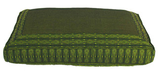 Boon Decor Meditation Cushion Rectangular Zafu Pillow - Green Global Weave