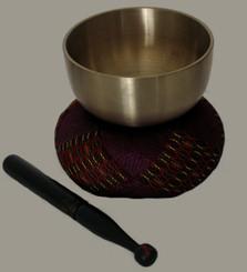 Boon Decor Singing Bowl Set - Spun Brass Rin Gong - 3.5 Diameter Bowl