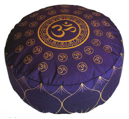 Boon Decor Meditation Cushion Zafu Pillow Om Universe Purple 14x7.5