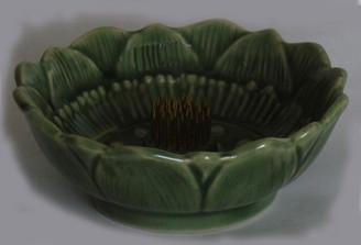 Boon Decor Ikebana Celadon Bowl - Lotus - 3.5 Dia