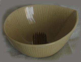 Boon Decor Ikebana Bowls, Celadon Ikebana Bowl - Modern - 3.5 Dia