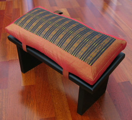 Boon Decor Meditation Bench and Cushion Set - Global Weave or Ikat Cushion SEE PATTERNS and COLORS